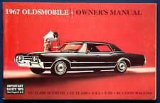 Owner's Manual  Betriebsanleitung 1967 Oldsmobile Cutlass   4-4-2   F-85   (USA)