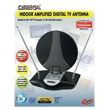 Omega 24446 Indoor UHF TV Antenna Amplified Aerial Digital Freeview DAB FM Radio