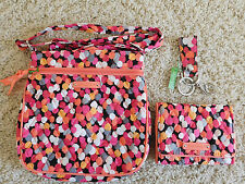 VERA BRADLEY PETITE HIPSTER TRIFOLD WALLET LOOP KEYCHAIN PIXIE CONFETTI NEW NWT