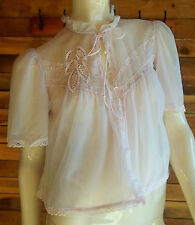 VINTAGE DEENA Styled in California MAUVE SIZE SMALL CHIFFON BED JACKET