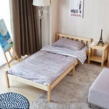 3ft Solid Pine Natural Wooden Beds Single Wood Bed Frame for Adult,kids 198x 96
