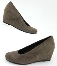 NEW! Stuart Weitzman Dress Wedges Light Mocha Suede Leather Size 6M
