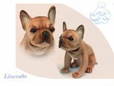 Sitting Beige French Bulldog Puppy Plush Soft Toy Dog by Hansa.6596. 20cm