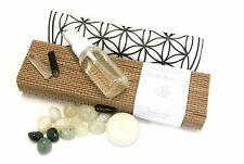 Crystal Grid Meditation Set - Stones, Cloth & Space Cleansing Spray in a Box