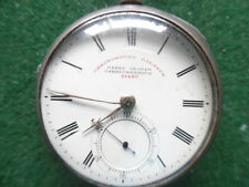 Victorian Silver Pocket Watch Chronograph/J. G carrickfergus N.I