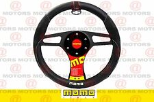 """MOMO Steering Wheel Cover 14.5"""" To 15"""" Inches Black/Black/White For All Models"""