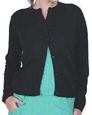 Balldiri 100% Cashmere Damen Strickjacke Rundhals 2-fädig schwarz S