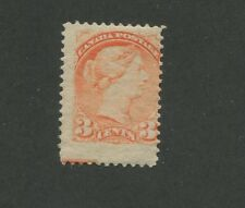 Queen Victoria 1888 Canada 3c Vermilion Stamp #41 Scott Value $65