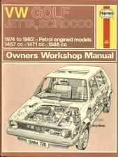 VW GOLF MK1 1.5 1.6 PETROL INCL GTI & CABRIOLET 1974 - 1982 WORKSHOP MANUAL VGC