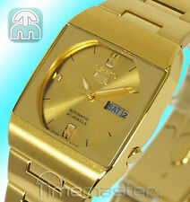 SEIKO 5 Automatic Casual Dress SQUARE GOLD TONE VISO sny008j1 sny008