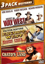 THE WAY WEST /ESCORT WEST /CHATO'S LAND 3 PACK WESTERNS NEW SEALED DVD 3 MOVIES