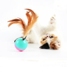 Funny Feather Tumbler Activity Creative Play Toys for Pet Cat Dog Kitten LAU