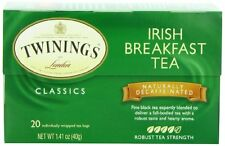 Twinings Irish Breakfast Decaf Tea, Tea Bags, 20-Count Boxes (Pack of 6) , New,