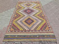 "Anatolia Turkish Antalya Nomads  Kilim 59,8""x118,1"" Area Rug Kelim Carpet Rugs"