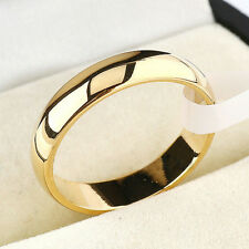 4mm Simple Gold Silver Ring For Men And Women Wedding Stainless Steel Ring Band