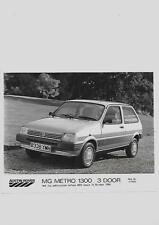 "AUSTIN Rover Mg Metro 1300 3-PORTA PRESS PHOTO ""BROCHURE connesso"" PER OTT' 1984"