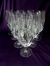 """SET OF 10 CUT GLASS CHAMPAGNE FLUTE UNKNOWN MAKER 7-5/8"""""""