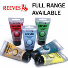 Reeves Artist Acrylic Paint 75ml Tubes | Full Range of Colours | 1/2