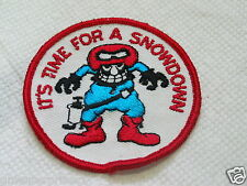 Snow Fight Lapel Pin , It's Time For A Snowdown Vintage Patch ( 027) *
