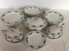 Alfred Meakin OAKLEY Dinner Set Service Circa 1907 Blue Flow