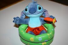 Disney Stitch Plush Hard to Find! Stitch in Kiddie Pool Swim Trunks Water Gun