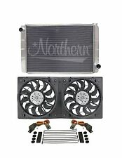 Aluminum Radiator GM Chevy 31x19 Triple Row w/Maradyn 3,100cfm Fan Big Block 454
