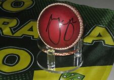 Mark Waugh (Australia) signed Red Cricket Ball + COA