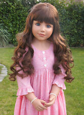 "Masterpiece Crystal Brunette Wig, Fits Up To 22"" Head, Doll Not Included"