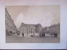 BELLE GRAVURE 1867 BRETAGNE ILLE ET VILAINE RENNES PALAIS DE JUSTICE