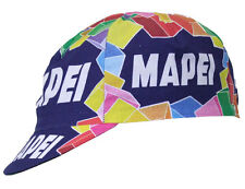 Brand new team Mapei Colnago cycling cap, Italian made Retro fixie.
