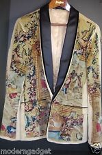 SUPER GORGEOUS !!! DOLCE&GABBANA RUNWAY VICTORIAN MEN VELVET JACKET EU 52 US 42