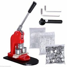 "2-1/4"" 58mm Badge Press Button Maker Machine+1000 Button Supply+Circle Cutter"