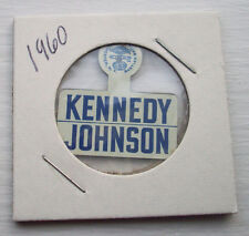 1960 JOHN F KENNEDY JFK - LYDON B. JOHNSON LBJ CAMPAIGN PIN PRESSBACK BUTTON