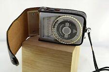 Vintage Leningrado 4 Medidor de Luz exposición fotoeléctrica foto Caso de cuero de la USSR