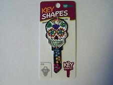 Sugar Skull Schlage house key blank.