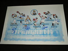 2009 Champs UNC Basketball Team 6X Signed Lithograph North Carolina Hansbrough