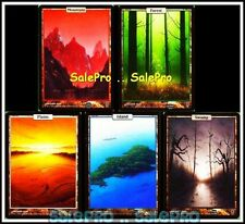1x UNHINGED magic 5x ART LAND SWAMP FOREST MOUNTAIN PLAINS ISLAND RARE FULL SET