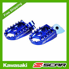 FOOTPEGS EVO KAWASAKI KX85 KX65 KX 85 65 BLUE FOOT PEGS REST SCAR