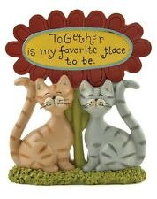 Blossom Bucket-- Together is my Favorite Place Flower CATS Figurine--**So Cute**