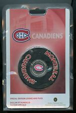 2008 NHL MONTREAL CANADIENS Special Edition Loonie $1 Coin & Puck Set Mintage:62