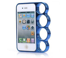 Blue iphone 5 5s knuckle duster phone case quality  plastic cover