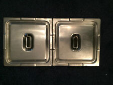 2 STAINLESS STEEL 1/2 GASTRONORM LID FOR 1/2 GASTRO PAN