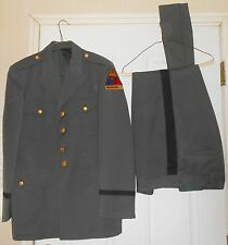 VINTAGE US ARMY VIETNAM WAR ERA ARMORED DIVISION  DRESS UNIFORM JACKET PANTS HAT