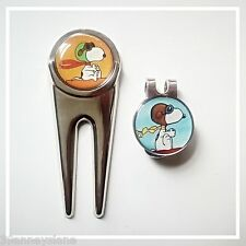 anneys - 2 - snoopy golf ball markers + divot tool + hat clip
