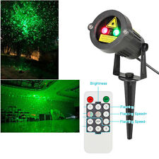 US Waterproof Outdoor Landscape Garden Projector Moving Laser Xmas Stage Light