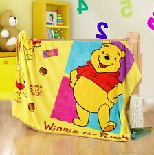 "Disney Winnie the Pooh Bear Warm Plush Silky Flannel Blanket Throw Rug 39""x55"""