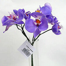 Bunch of 5 Real Touch Orchids & 5 Buds - Lilac Artificial Wedding Flowers