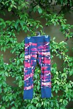 NWT Kyodan Red White and Blue Exercise Capri Pants Size Extra Small