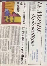 le monde diplomatique 530 mai 1998 - palestine - quebec - autre monde possible