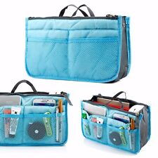 Blue organizer Sleeve Bag tablet gadget phone travel pockets Makeups Jewelry